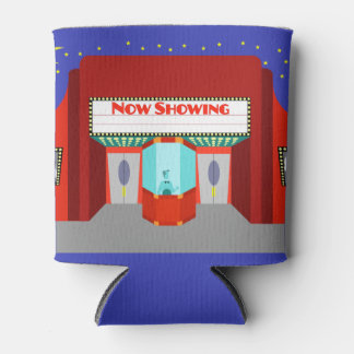 Customizable Retro Movie Theater Can Cooler