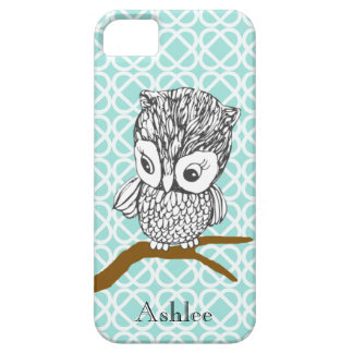 Customizable Retro Owl iPhone 5 Case