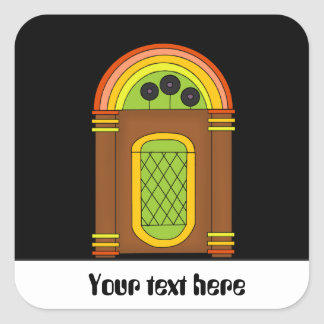 Customizable retro party fun jukebox sticker