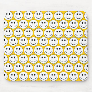 Customizable Retro Smiley Mouse Pads