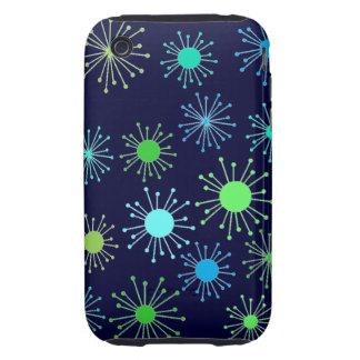 Customizable Retro Starburst Tough iPhone 3 Case