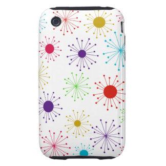 Customizable Retro Starburst Tough iPhone 3 Cases