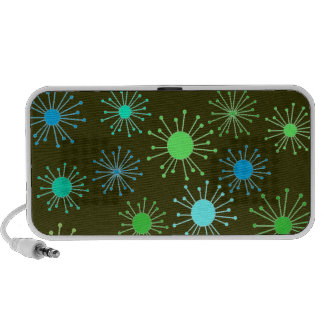 Customizable Retro Starbursts Travel Speakers