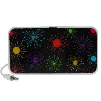 Customizable Retro Starbursts Notebook Speakers