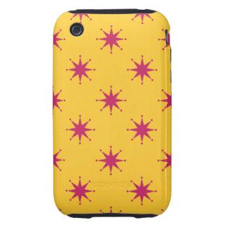 Customizable Retro Stars Tough iPhone 3 Case