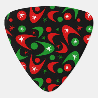 Customizable Retro Xmas Boomerangs Plectrum