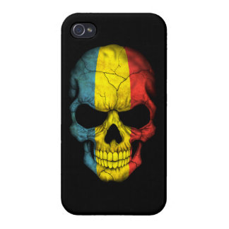 Customizable Romanian Flag Skull Covers For iPhone 4