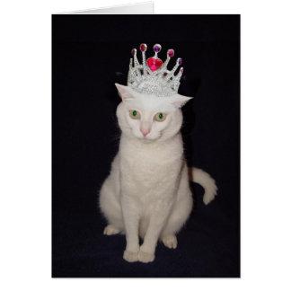 Customizable Romantic Cats Greeting Card