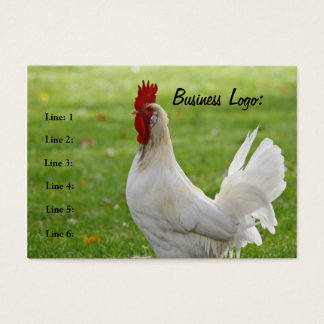 Customizable Rooster, Business Card