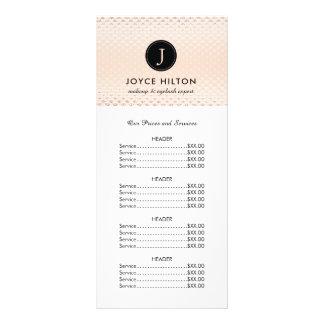 Customizable Rose Gold Price List Rack Card