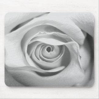 CUSTOMIZABLE Rose Mousepad Black & White