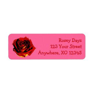 Customizable Rose Return Address Label