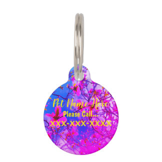 Customizable Round Small Pet Tag