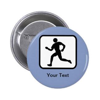 Customizable Runner Logo 6 Cm Round Badge