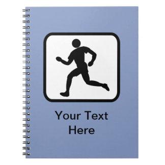 Customizable Runner Logo Notebook