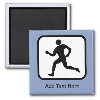Customizable Runner Logo Square Magnet