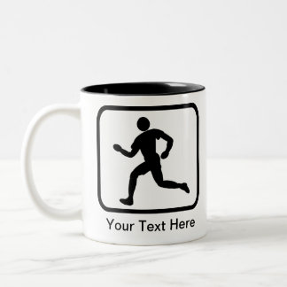 Customizable Runner Logo Two-Tone Mug