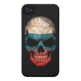 Customizable Russian Flag Skull iPhone 4 Cover