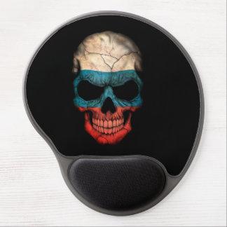 Customizable Russian Flag Skull Gel Mousepad
