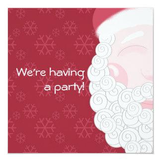 Customizable Santa Christmas Party Invitation
