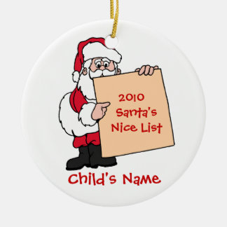 Customizable Santa s Nice List Ornament