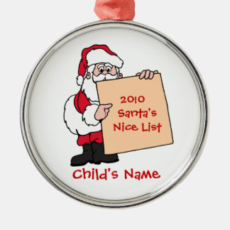 Customizable Santa's Nice List Ornament