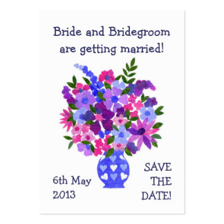 Customizable Save the Date Card, Bouquet Business Cards