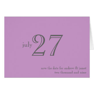 Customizable Save The Date Card : Matrimony