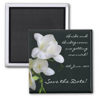 Customizable Save the Date Magnet, Freesias