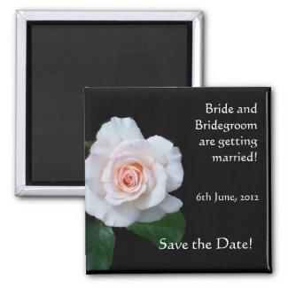 Customizable Save the Date Magnet, Rosebud