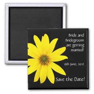 Customizable 'Save the Date' Magnet, Sunflower