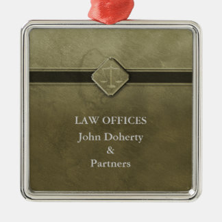 Customizable | Scales of Justice Christmas Ornament