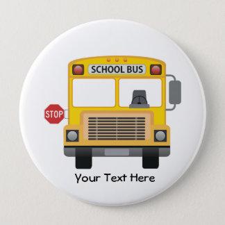 Customizable School Bus 10 Cm Round Badge