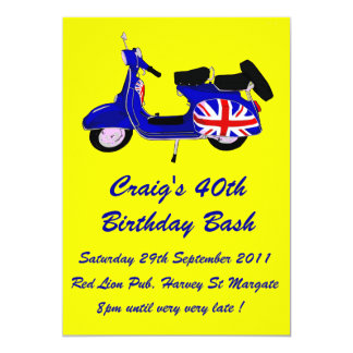 Customizable Scooter Boy Birthday invite