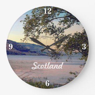 Customizable Scotland Scenic Loch Large Clock