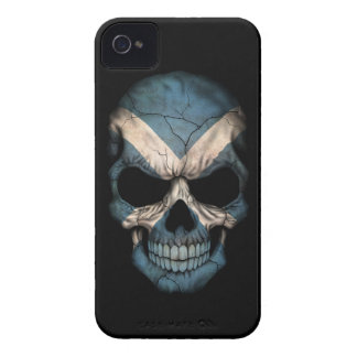 Customizable Scottish Flag Skull iPhone 4 Case-Mate Case