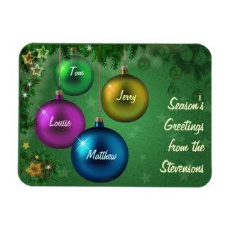 Customizable Season's Greetings Rectangular Photo Magnet