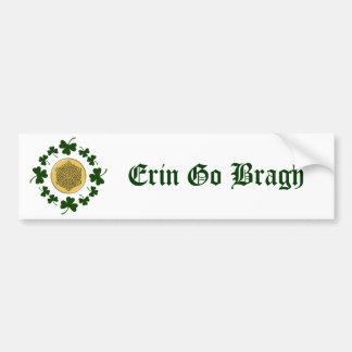 CUSTOMIZABLE!  Shamrocks - Gold Irish Celtic Bumper Sticker