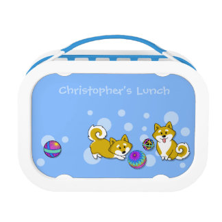 Customizable Shiba Inu and Temari Lunch Box