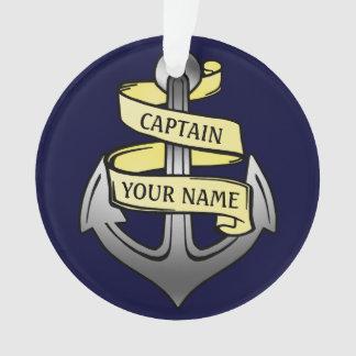 Customizable Ship Captain Your Name Anchor