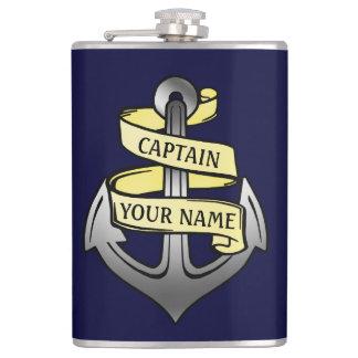 Customizable Ship Captain Your Name Anchor 2 Flask