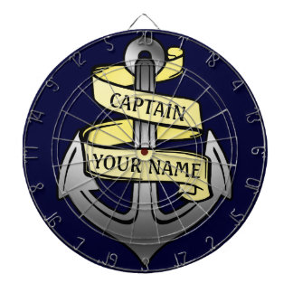 Customizable Ship Captain Your Name Anchor Dartboard