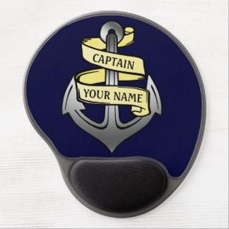 Customizable Ship Captain Your Name Anchor Gel Mouse Mat