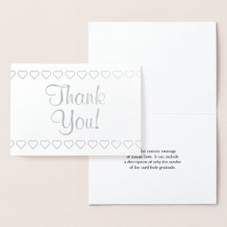 "Customizable Silver Foil ""Thank You!"" Card"
