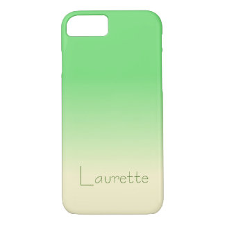 Customizable Simple Pale Green and Cream Gradient iPhone 8/7 Case