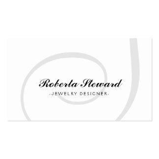 Customizable Simple Plain Jewelry Designer Card Business Card Templates