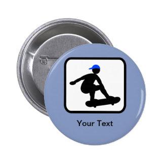 Customizable Skater on Skateboard Logo Pinback Button