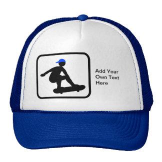Customizable Skater on Skateboard Logo Hats