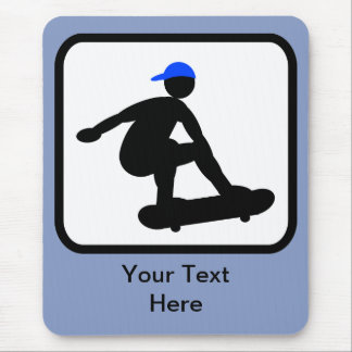 Customizable Skater on Skateboard Logo Mouse Mat