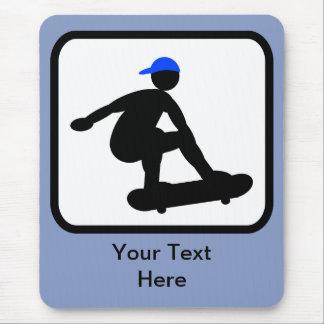 Customizable Skater on Skateboard Logo Mousepads